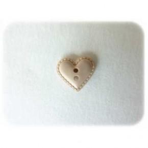Coeur façon cuir  beige