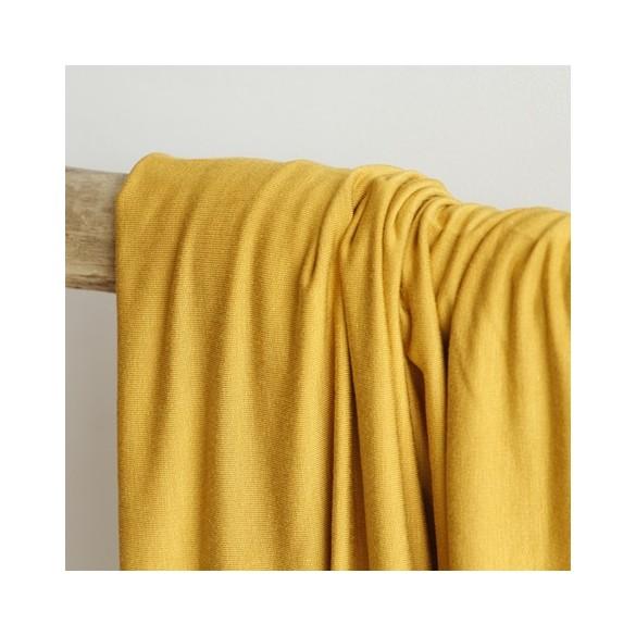 tissu jersey modal ocre