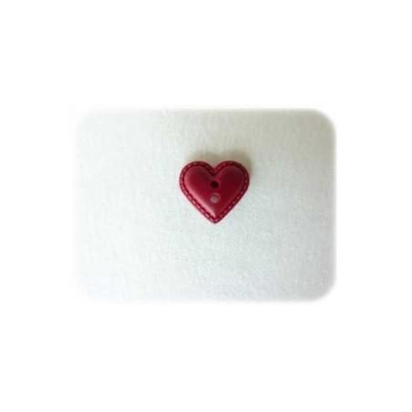 Coeur façon cuir prune