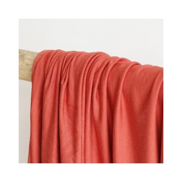 tissu jersey modal rouille