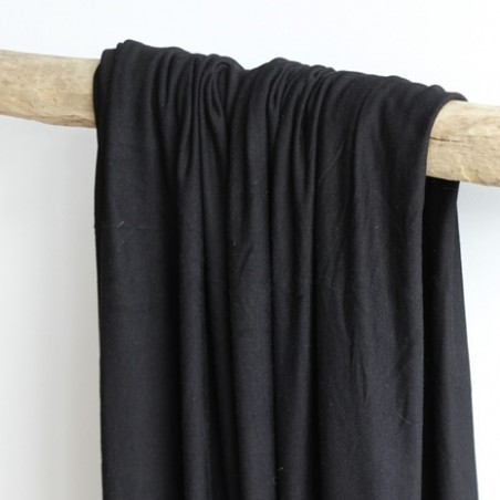 tissu jersey modal noir