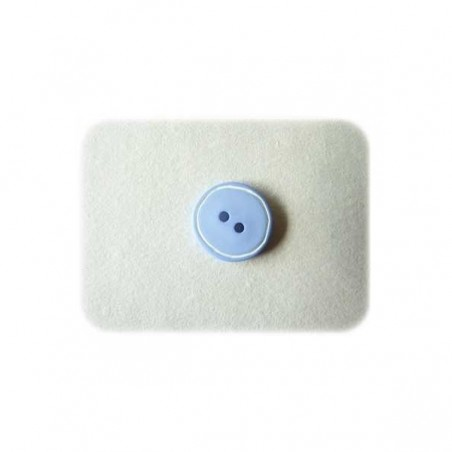 Bouton liseret blanc bleu