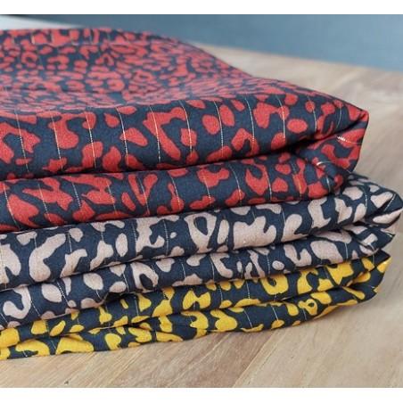 viscoses imprimées léopard et rayures lurex