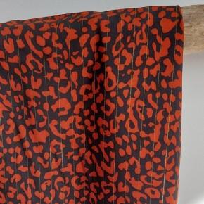viscose lou rouille leopard