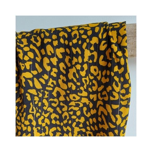 viscose imprimé leopard ocre