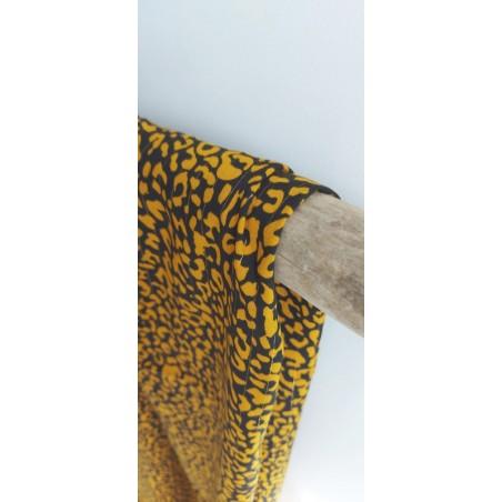 viscose lou leopard jaune et noir