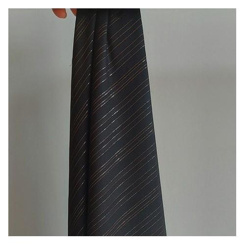 tissu viscose rayures lurex - noir