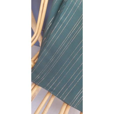 viscose rayures lurex cuivrées verte