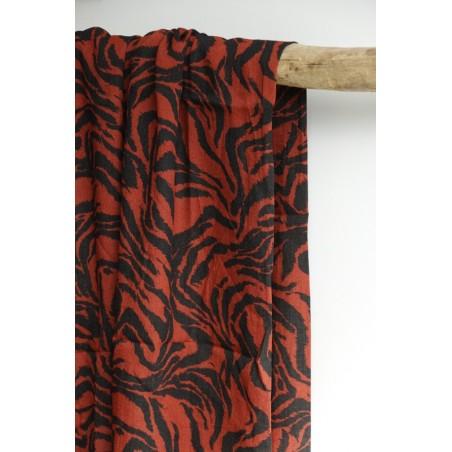 viscose zèbre rouille et noire
