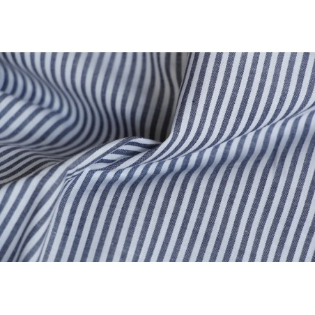 coton rayures marine