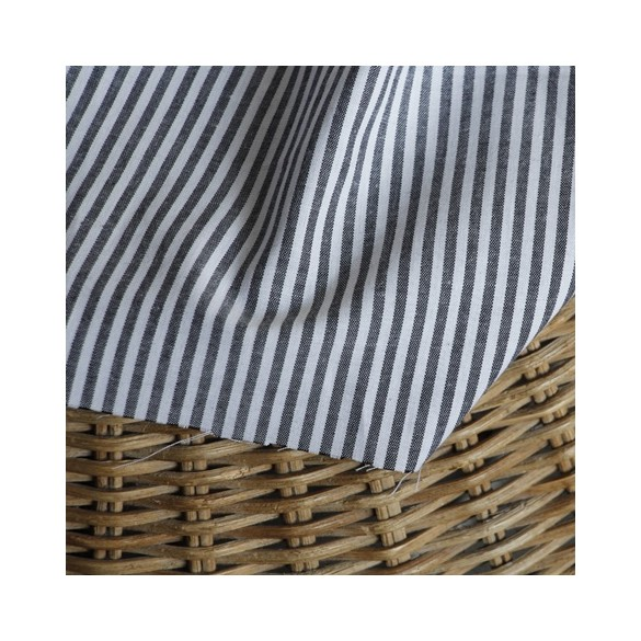 coton rayures grises et blanches