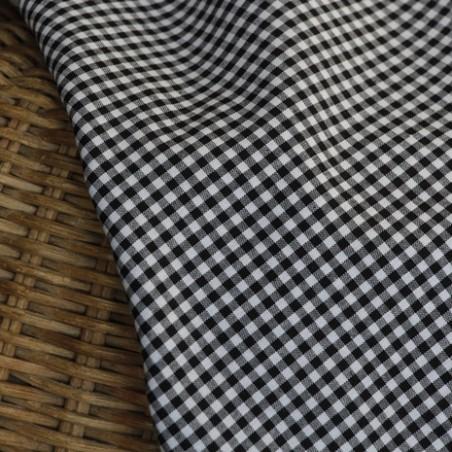 coton vichy noir