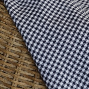 coton vichy marine et blanc