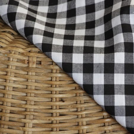 coton vichy noir et blanc