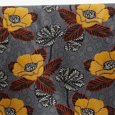 tissu coton oriental flower