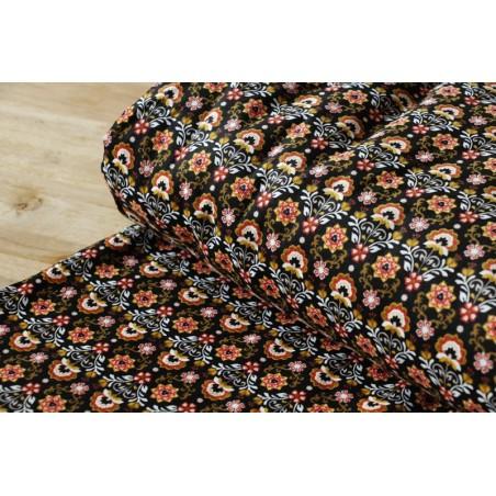 tissu velours milleraies fleurs