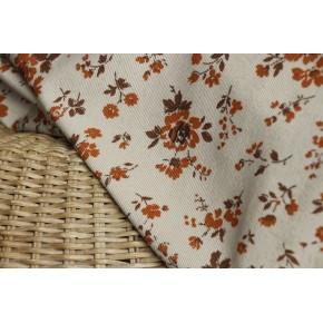 velours polyester fleuri