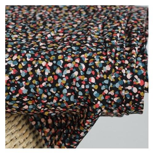 viscose imprimé pointillés multicolores
