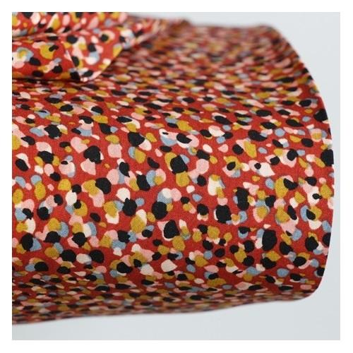tissu viscose alice rouille