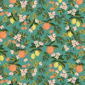 citrus floral teal - rifle paper co