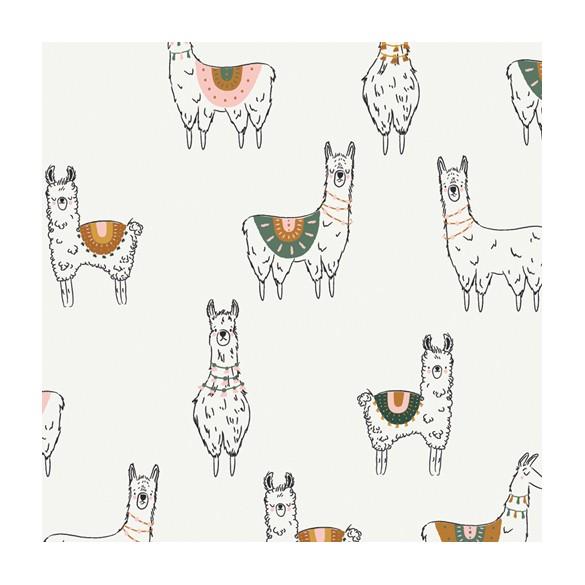 coton imprimé lama - art gallery fabrics
