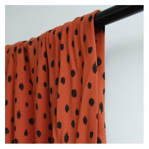 molleton bio painted dots rouille