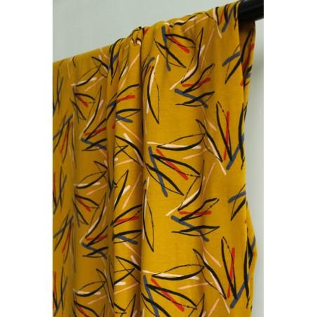 molleton fantasy stripes moutarde