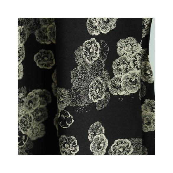 viscose night flowers - noir