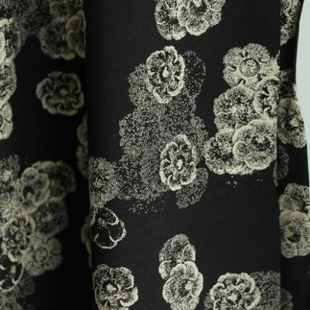 viscose night flowers - noir