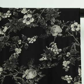 tissu viscose rosae noir et beige