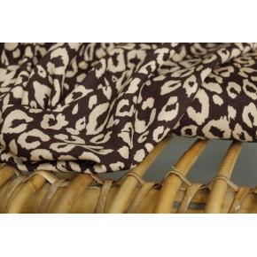 tissu viscose imprimé léopard