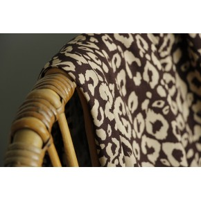 viscose léopard marron et beige