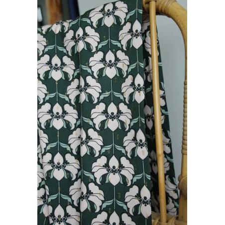 tissu style vintage à fleurs et lurex