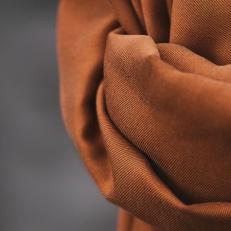 smooth drape twill rust - meetmilk