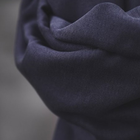 smooth drape twill blueberry - meetmilk