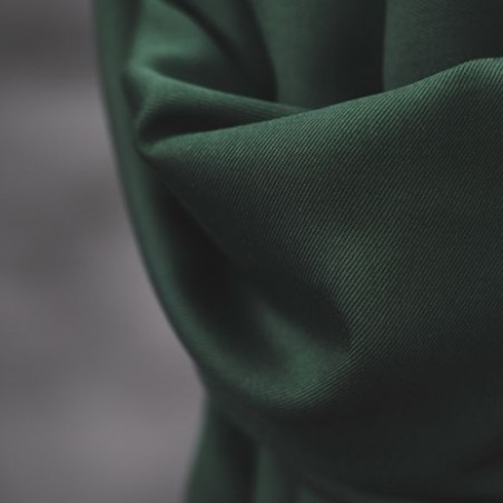 smooth drape twill deep green - meetmilk