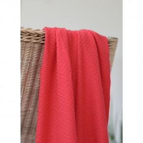 maille croisée en coton biologique rouge cerise