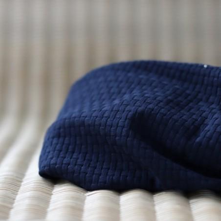 maille cannées en coton bio marine