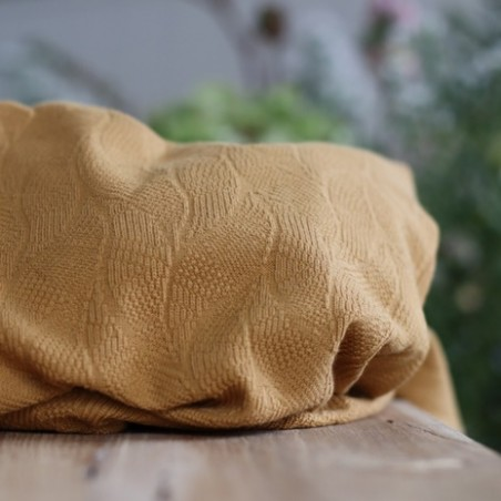 organic leaf jacquard dry mustard - mind the maker