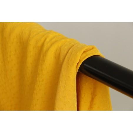 tissu pois plumetis jaune