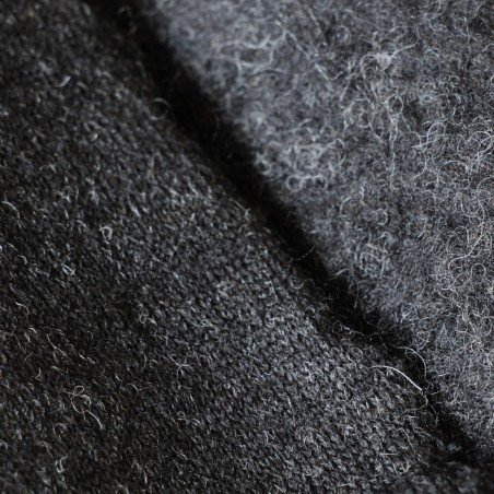 maille jersey en laine grise
