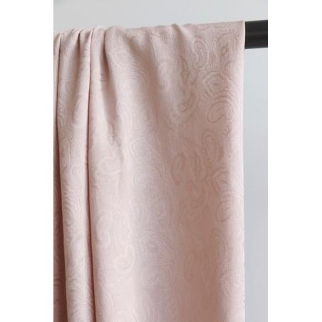 tissu viscose cachemire vieux rose