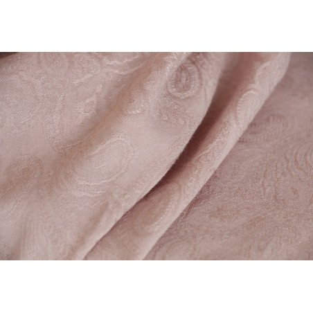 tissu viscose cachemire rose