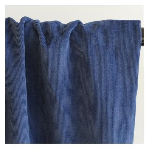 velours milleraies bleu indigo