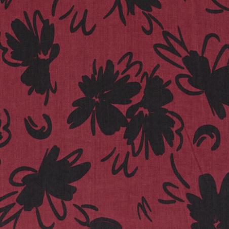 tencel fleurs bordeaux