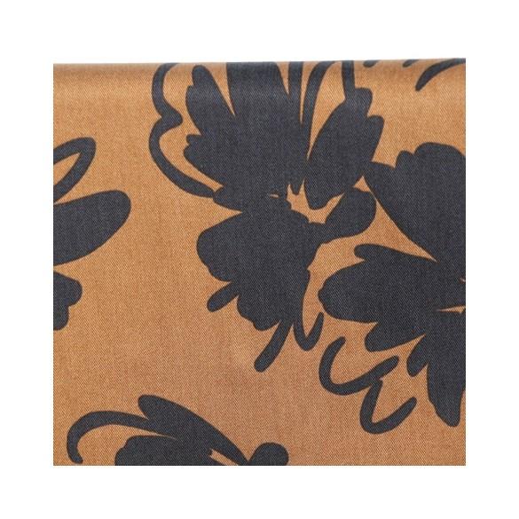 tencel imprimé fleurs caramel