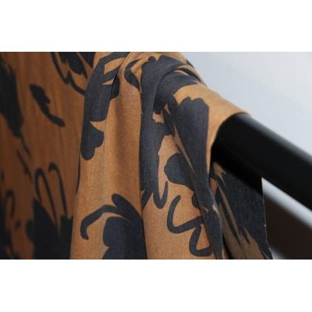 tissu tencel imprimé fleurs