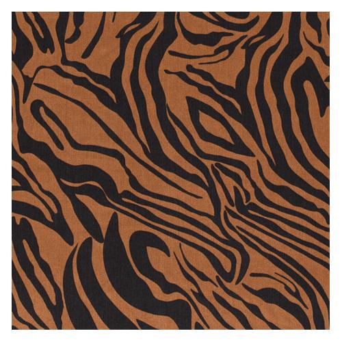 tissu tencel zèbre caramel et noir