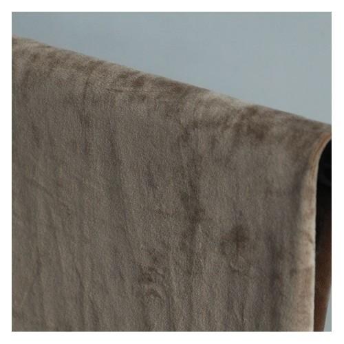 tissu sweat velours beige