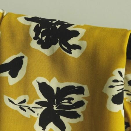 viscose sibylle jaune moutarde
